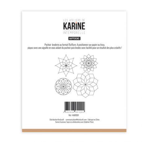 Pochoir Broderie Intemporelle Napperons -Les Ateliers de Karine