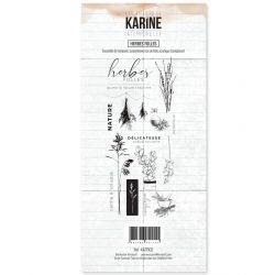 Tampon clear Intemporelle Herbes Folles - Les Ateliers de Karine