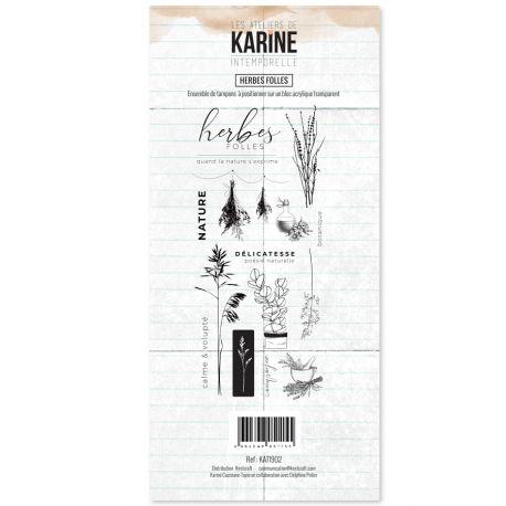 Clear Stamp Intemporelle Herbes Folles - Les Ateliers de Karine