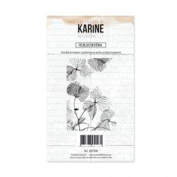 Tampon clear Intemporelle Feuilles en détail - Les Ateliers de Karine