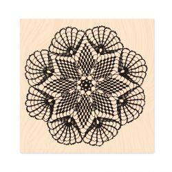 Wooden Stamp Intemporelle Dentelle -Les Ateliers de Karine