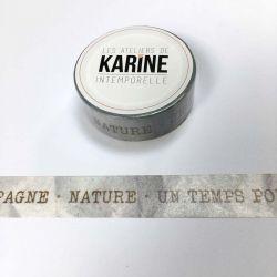 Masking Tape Textes kraft-Karine Cazenave Tapie