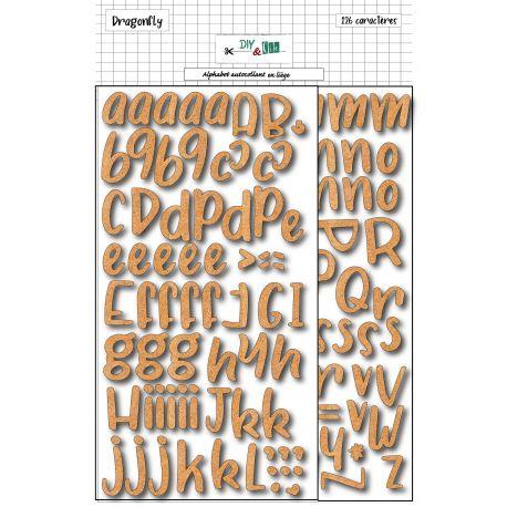 Alphabet adhésif en liège - DIY and Cie