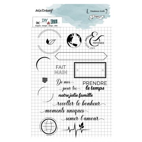 Tampon clear : Tendance écolo - DIY and Cie