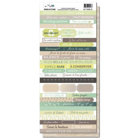 Planche de mots : Green attitude - DIY and Cie