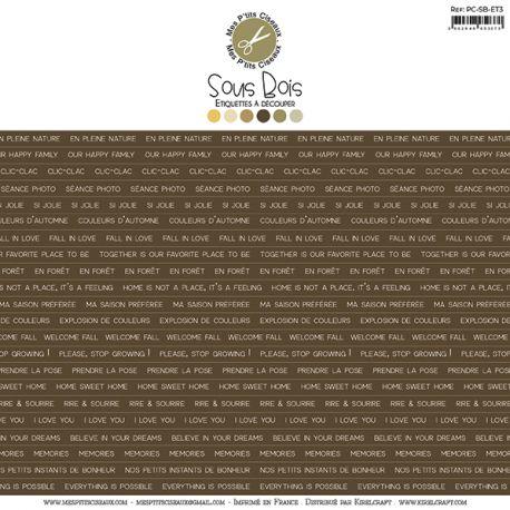 Sous-Bois étiquettes marron - Mes Ptits Ciseaux
