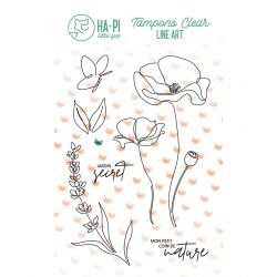 Clear stamps Jardin secret - HA PI Little Fox