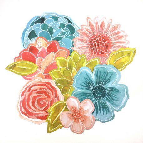 Die Cuts fleurs-Le Jardin de Manuela
