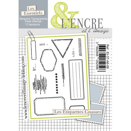 Clear Stamp - Stitched labels - L'Encre et l'Image