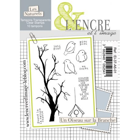 Clear Stamp - A Bird on the Branch - L'Encre et l'Image
