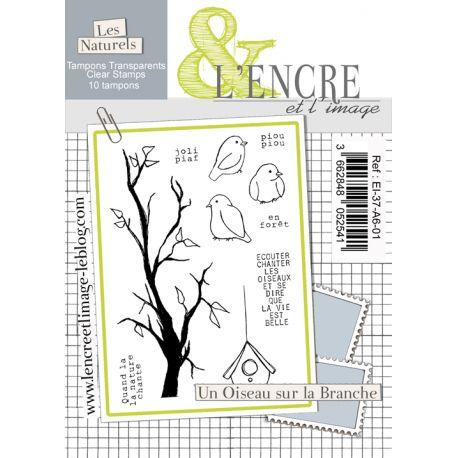 Tampon clear - Un Oiseau sur la Branche - L'Encre et l'Image