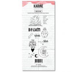 Clear Stamp Jardin d'Hiver Dans la lune - Les Ateliers de Karine