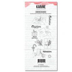 Clear Stamp Jardin d'Hiver Créations sur mesure- Les Ateliers de Karine