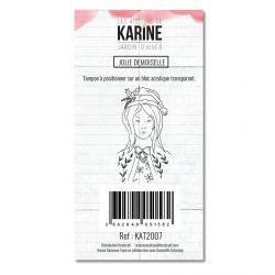 Tampon clear Jardin d'Hiver Jolie Demoiselle - Les Ateliers de Karine