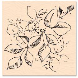 Wooden Stamp Jardin d'Hiver Jolies Feuilles -Les Ateliers de Karine