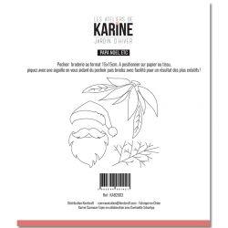 Pochoir Broderie Jardin d'Hiver Papa NOEL, etc -Les Ateliers de Karine