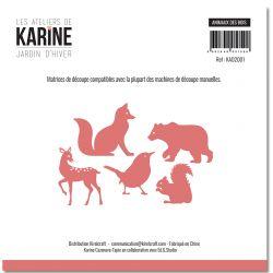 Dies Jardin d'Hiver Animaux des bois -Les Ateliers de Karine