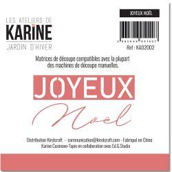 Dies Jardin d'Hiver Joyeux NOEL -Les Ateliers de Karine