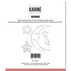 Pochoir Broderie Jardin d'Hiver Etoiles,etc -Les Ateliers de Karine