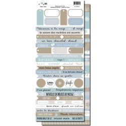 Sheets of words - Winter - DIY and Cie