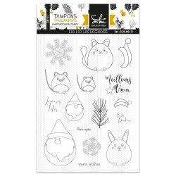 Clear stamps Moments d'hiver HO HO les Mignons- SOKAI