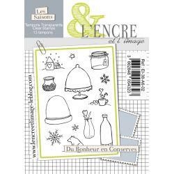 Tampon clear - Du Bonheur en Conserves - L'Encre et l'Image