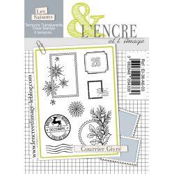 Tampon clear - Courrier Givré - L'Encre et l'Image