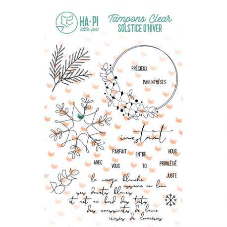 Clear stamps Instant précieux  - HA PI Little Fox