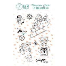 Clear stamps hapi à la neige - HA PI Little Fox