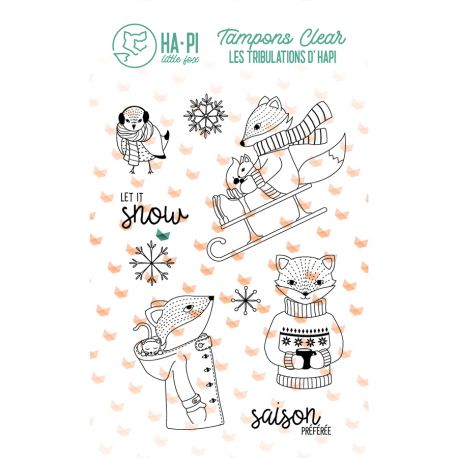 Clear stamps hapi à la neige - HA PI Little Fox