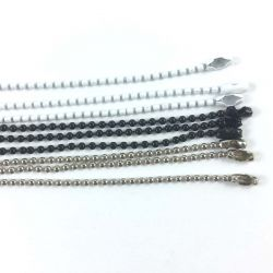 Set of 9 chains black white silver 1,5mm
