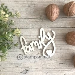 Wooden words - FAMILY - Stampam
