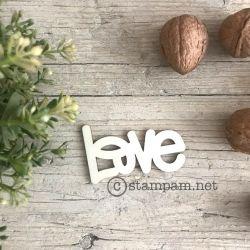 Mot en bois - love - Stampam