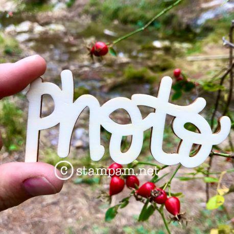 Mot en bois - photo - Stampam
