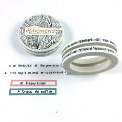 2 Washi Tapes Mini mots-éphéméria