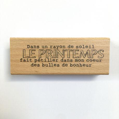 Tampon Bois Le Printemps - L'Encre et l'Image