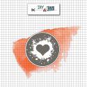 Sceau en laiton Coeur de rocker - DIY and Cie