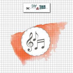 Head brass Notes de musique - DIY and Cie