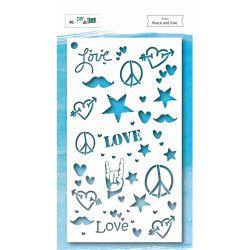 Pochoir Peace and Love - DIY and Cie