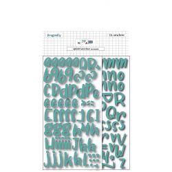 Alphabet adhésif en mousse Turquoise - DIY and Cie