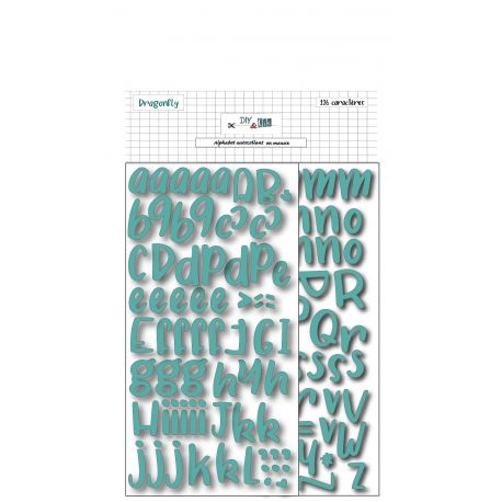 Stickers Alphabet foam turquoise - DIY and Cie