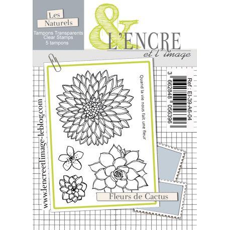 Tampon clear Fleurs de Cactus - L'Encre et l'Image