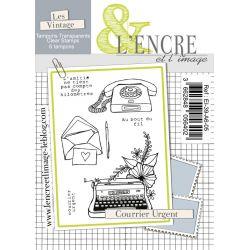 Tampon clear Courrier Urgent - L'Encre et l'Image