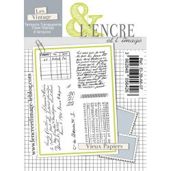Clear Stamp - Old Papers - L'Encre et l'Image