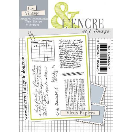 Tampon clear Vieux Papiers - L'Encre et l'Image