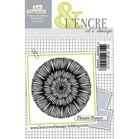 Plaque de caoutchouc - Flower Power - L'Encre et l'Image