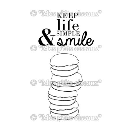 Clear stamp Macarons Gourmands - Mes Ptits Ciseaux