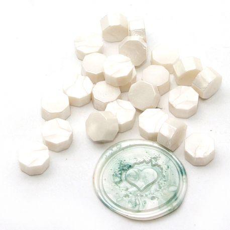 Pastilles de cire Blanc nacré - DIY and Cie