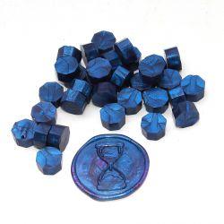Pastilles de cire Bleu nuit nacré - DIY and Cie