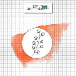 Sceau en laiton Fleur de coton - DIY and Cie